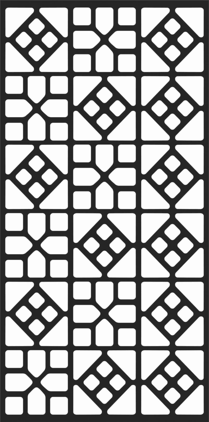 Floral Screen Patterns Design 4 Free DXF File