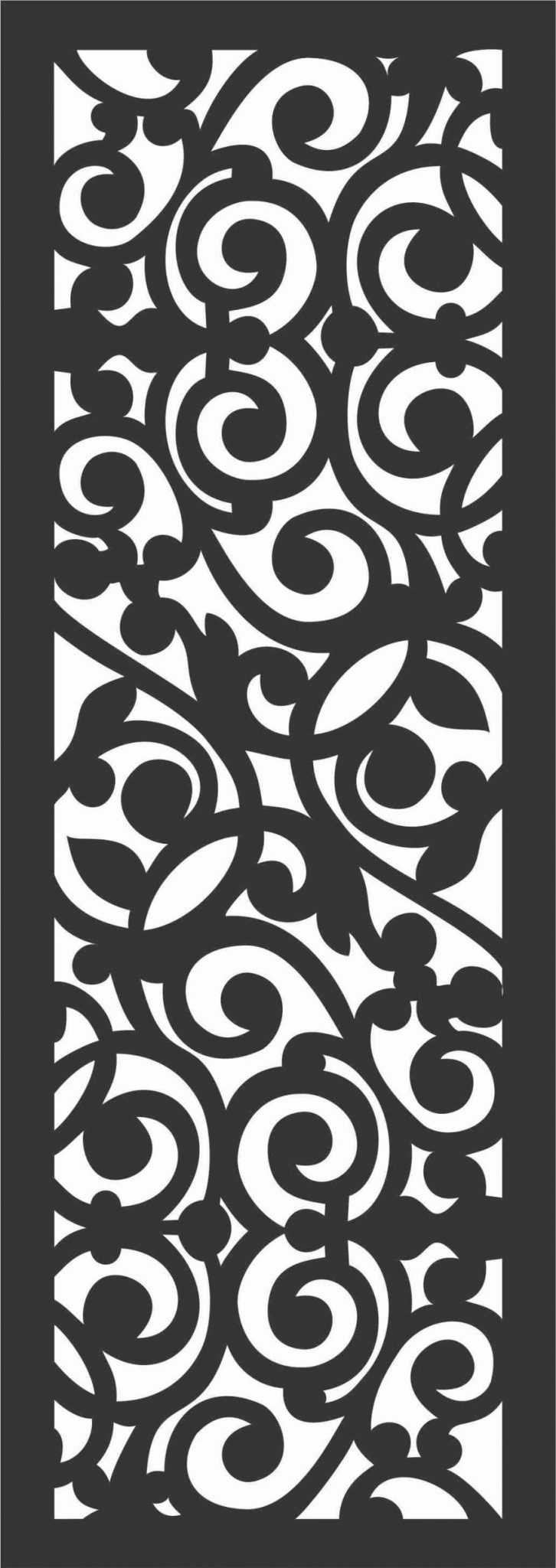 Floral Screen Patterns Design 9 Free DXF File
