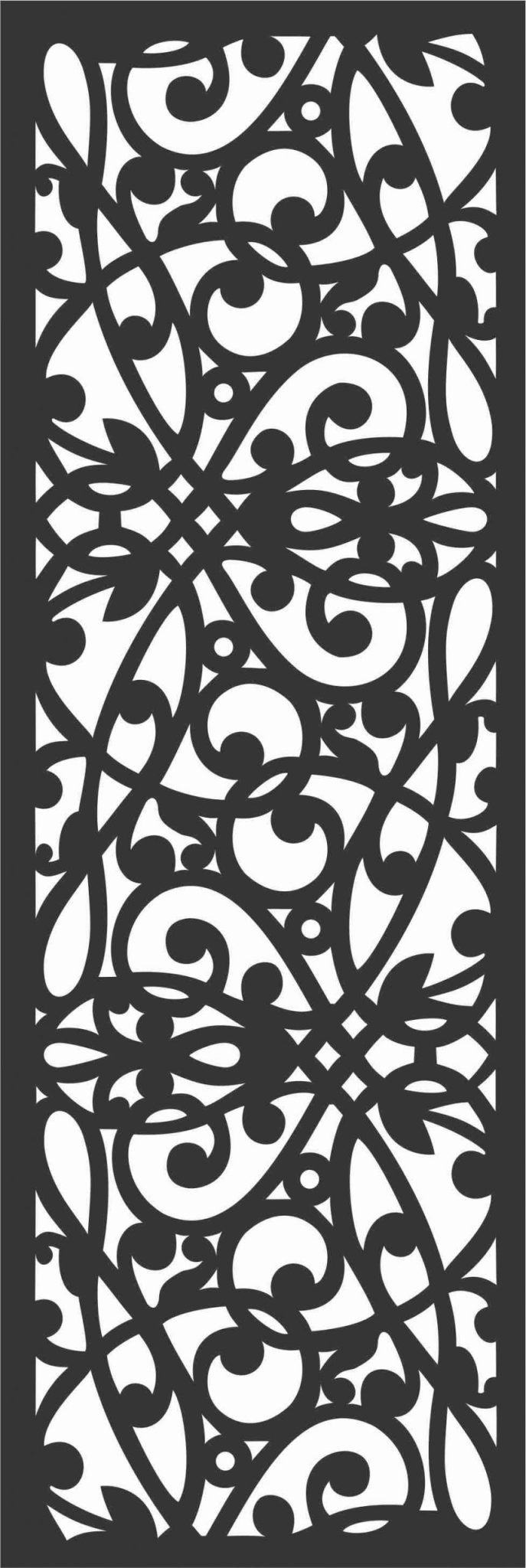 Floral Screen Patterns Design 11 Free DXF File