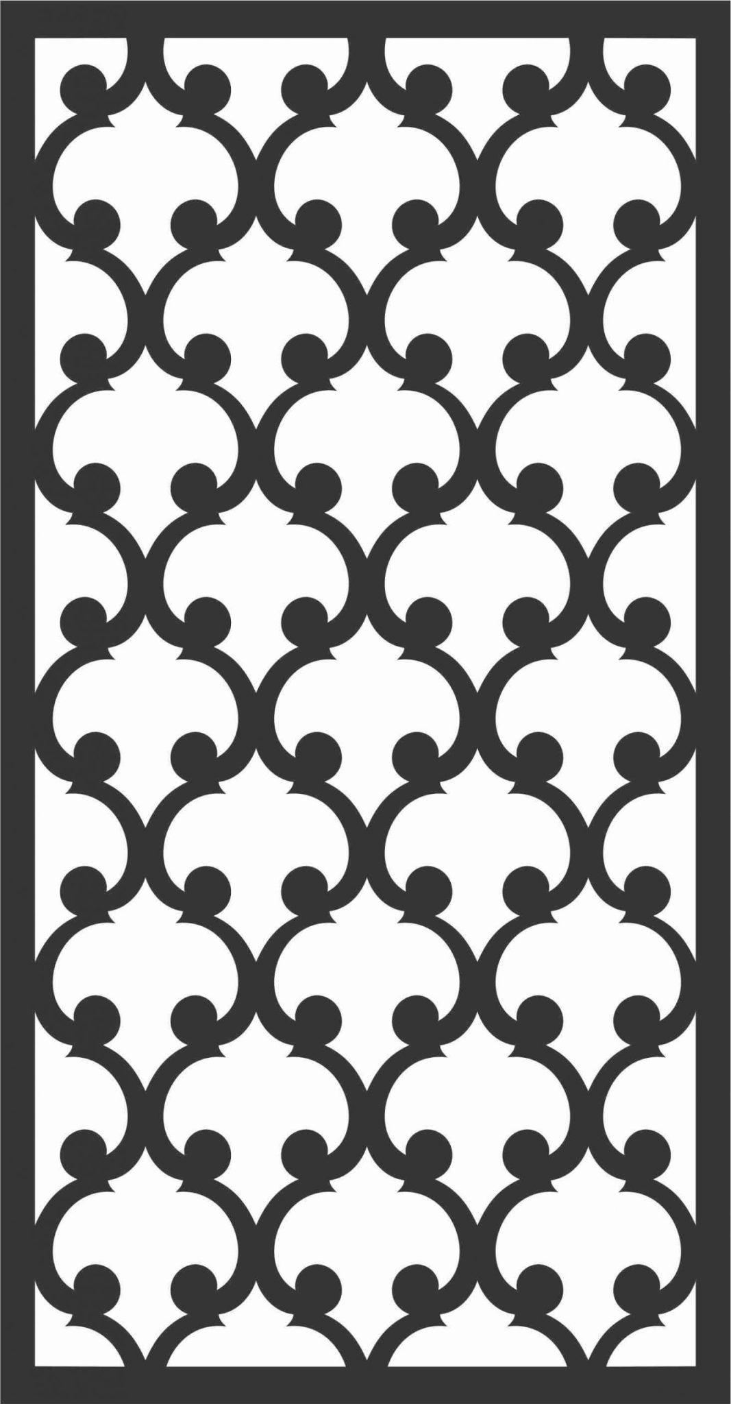 Floral Screen Patterns Design 13 Free DXF File