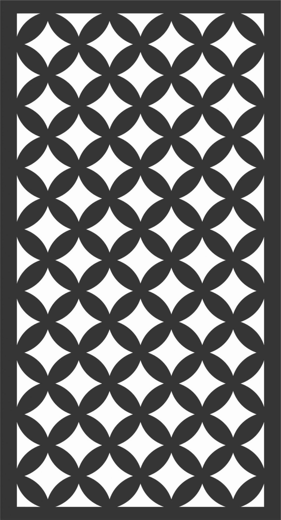 Floral Screen Patterns Design 14 Free DXF File