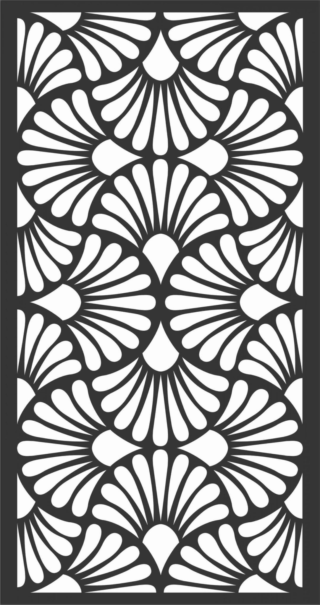 Floral Screen Patterns Design 15 Free DXF File