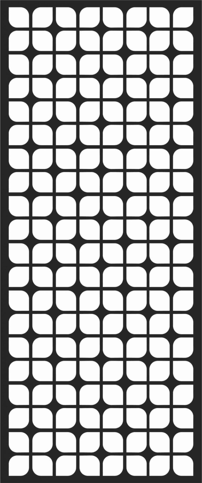 Floral Screen Patterns Design 17 Free DXF File