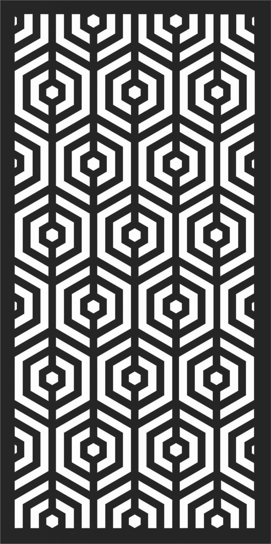 Floral Screen Patterns Design 18 Free DXF File