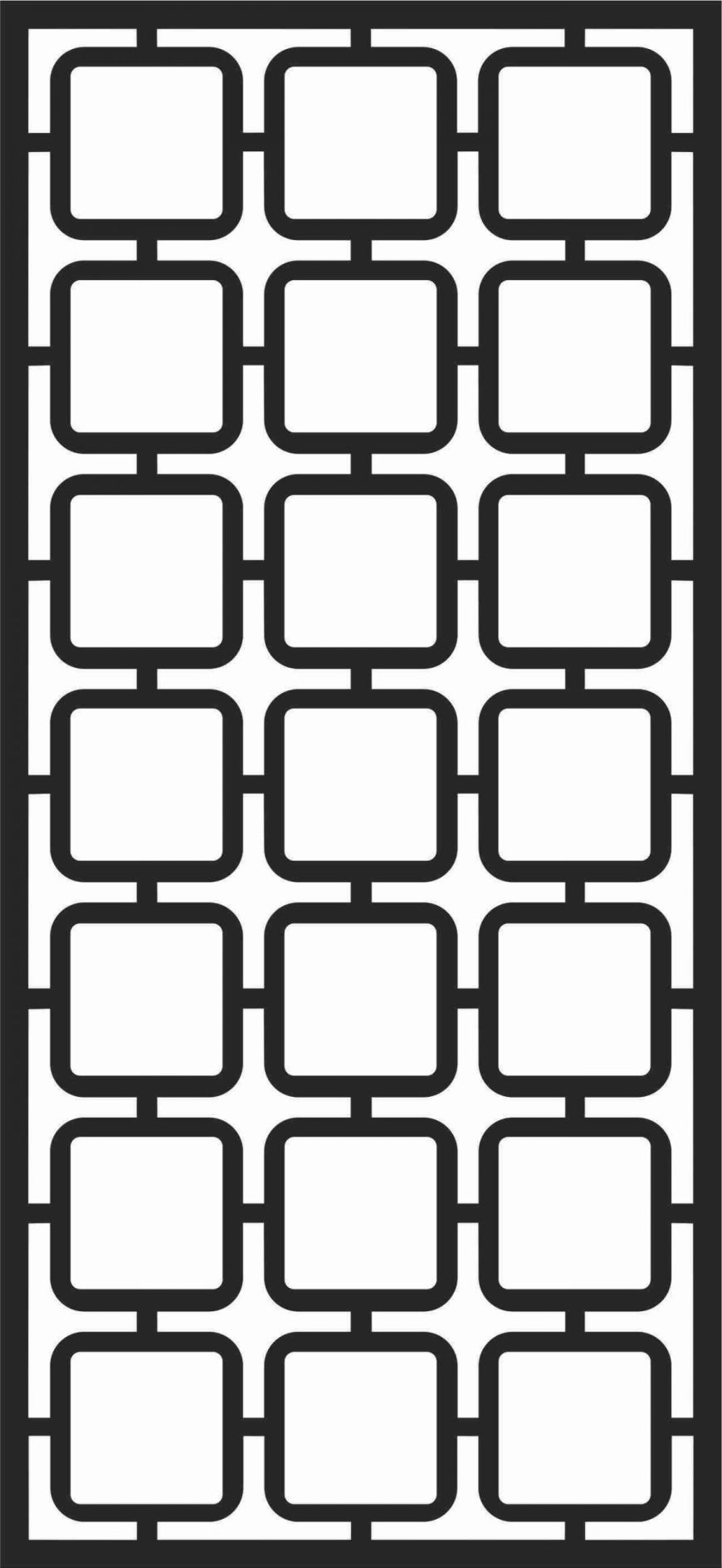 Floral Screen Patterns Design 19 Free DXF File