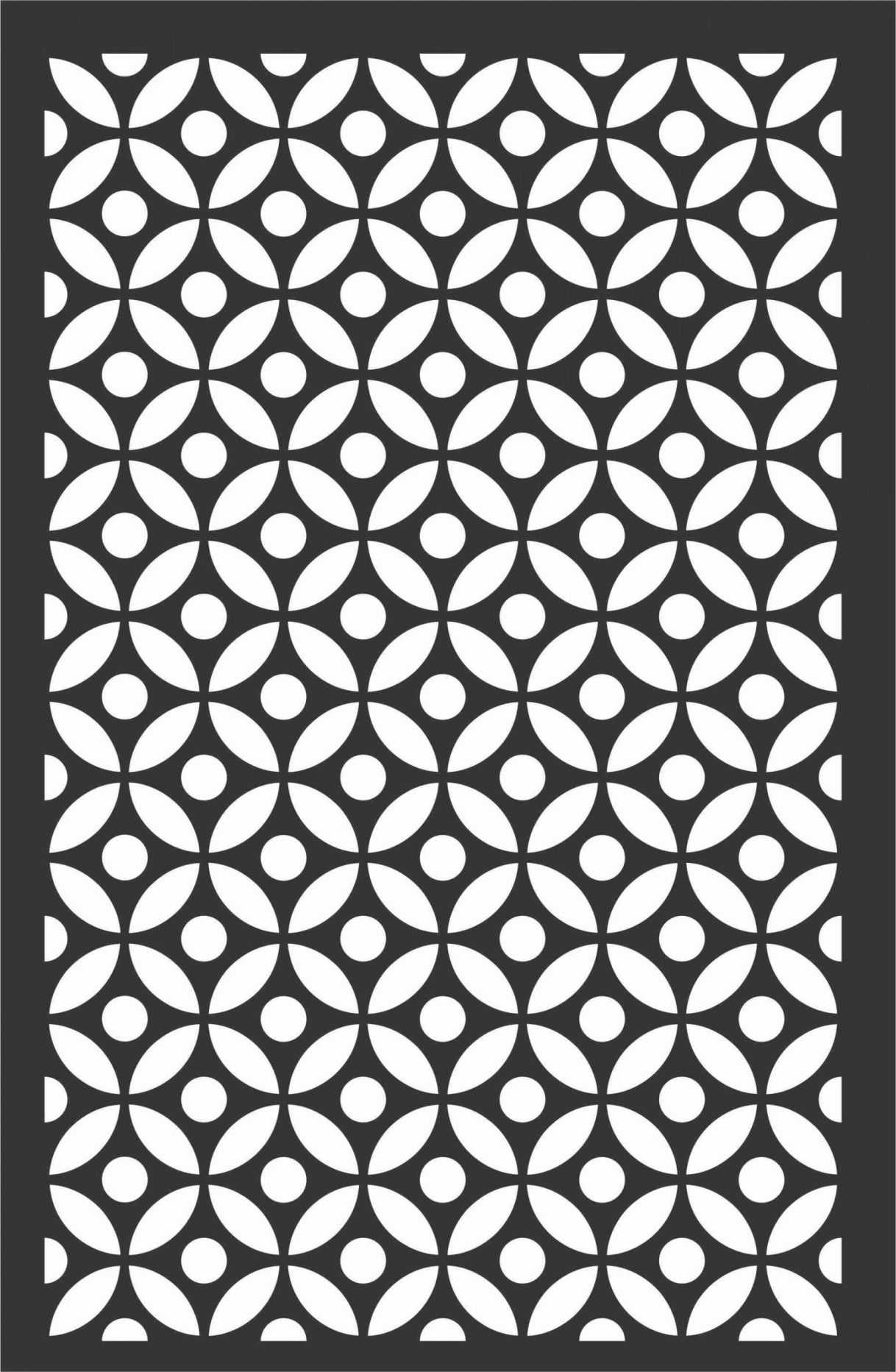 Floral Screen Patterns Design 20 Free DXF File
