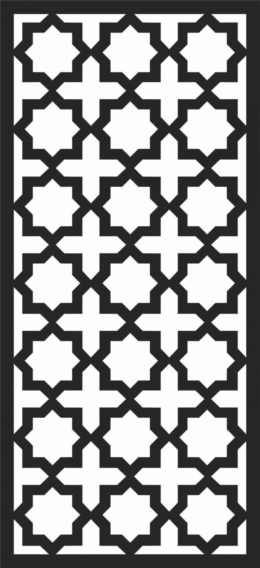 Floral Screen Patterns Design 21 Free DXF File