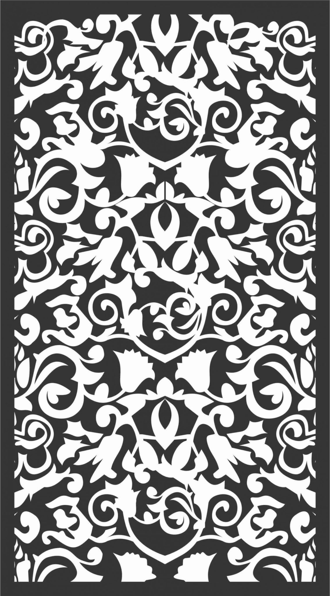 Floral Screen Patterns Design 25 Free DXF File