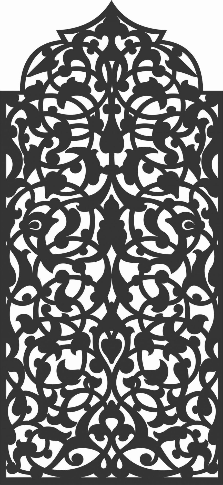 Floral Screen Patterns Design 30 Free DXF File