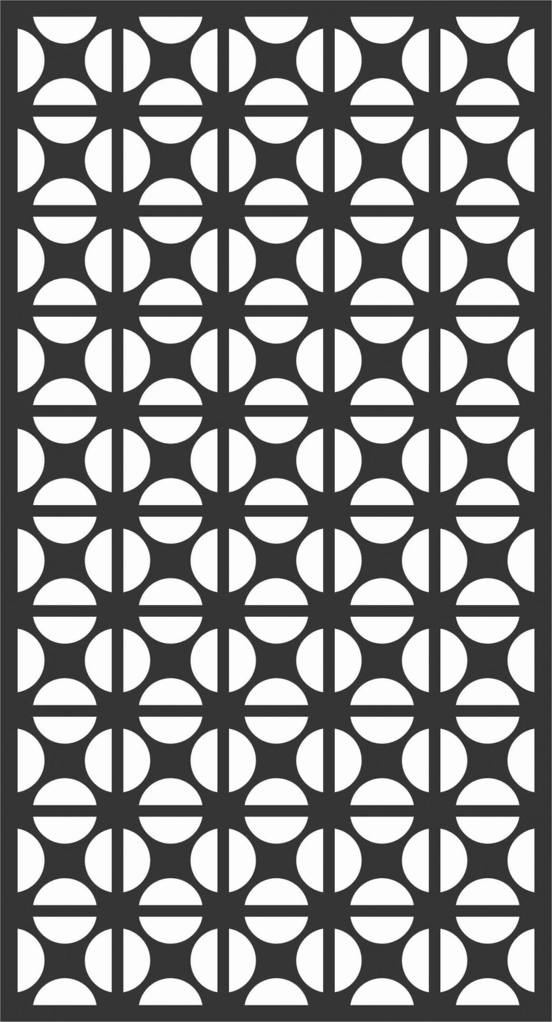 Floral Screen Patterns Design 31 Free DXF File