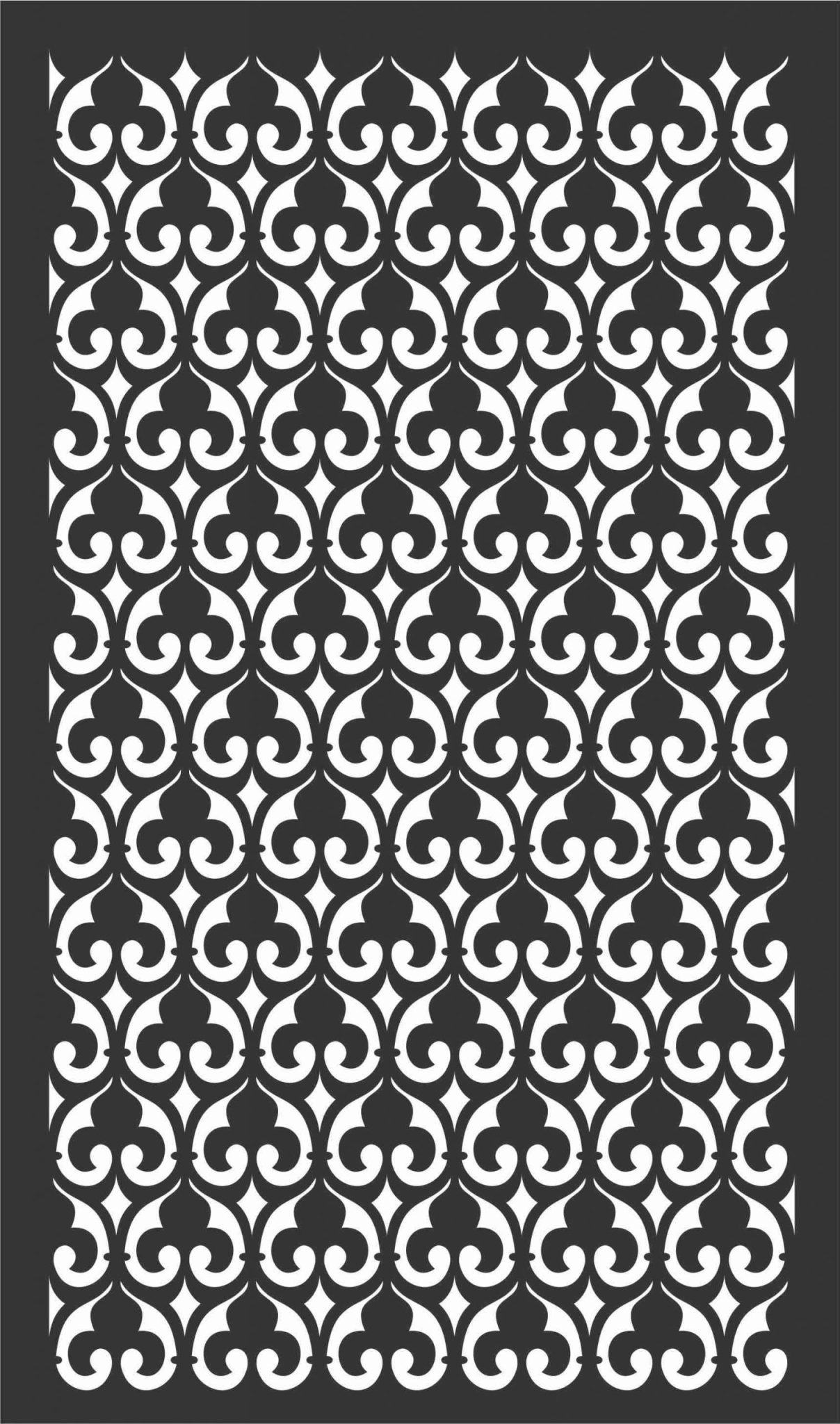 Floral Screen Patterns Design 33 Free DXF File