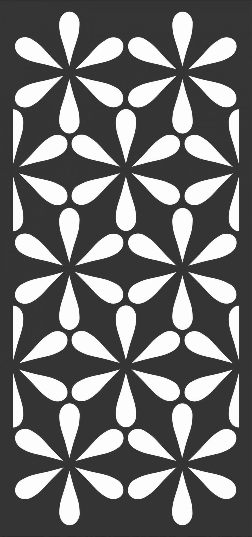 Floral Screen Patterns Design 36 Free DXF File