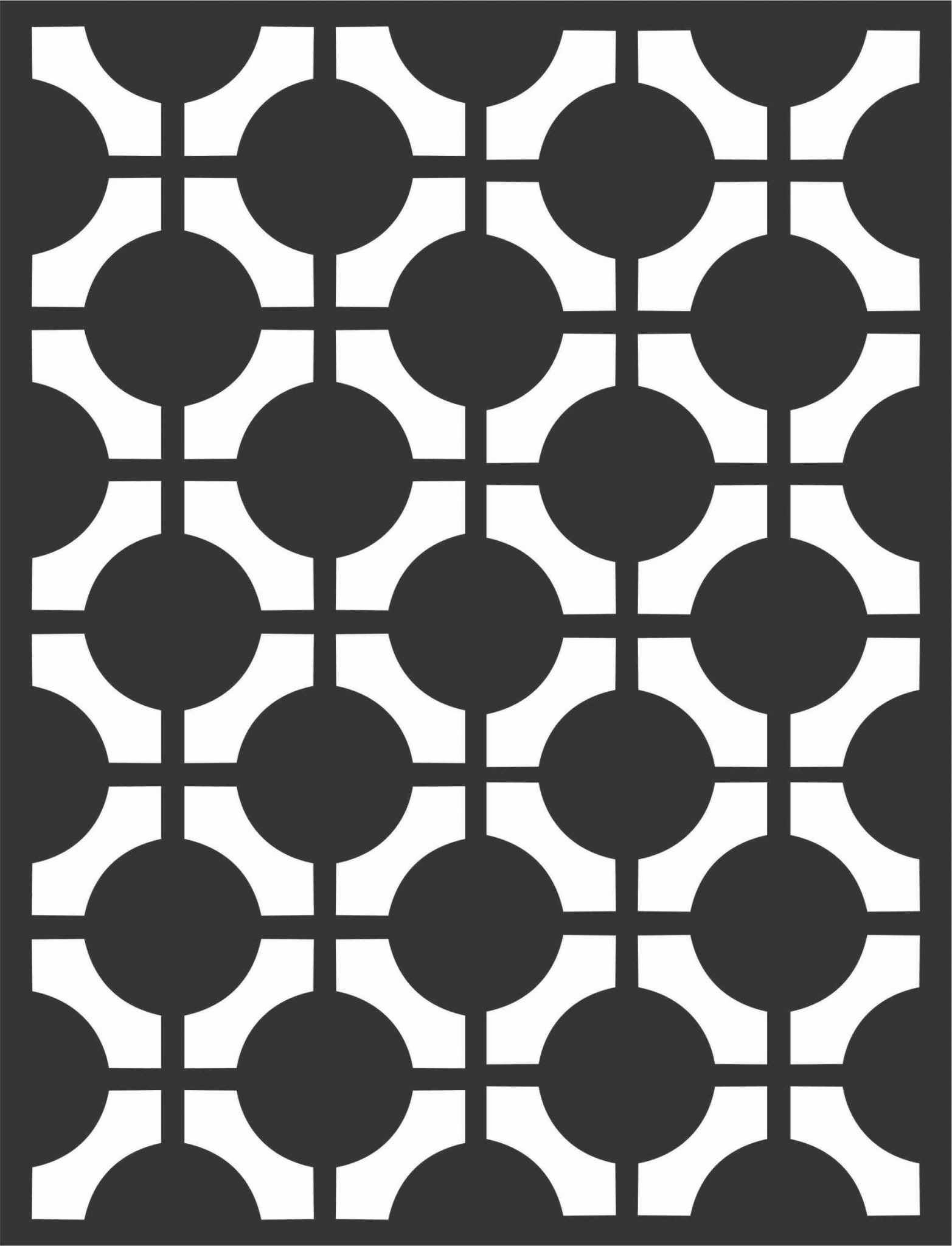 Floral Screen Patterns Design 38 Free DXF File