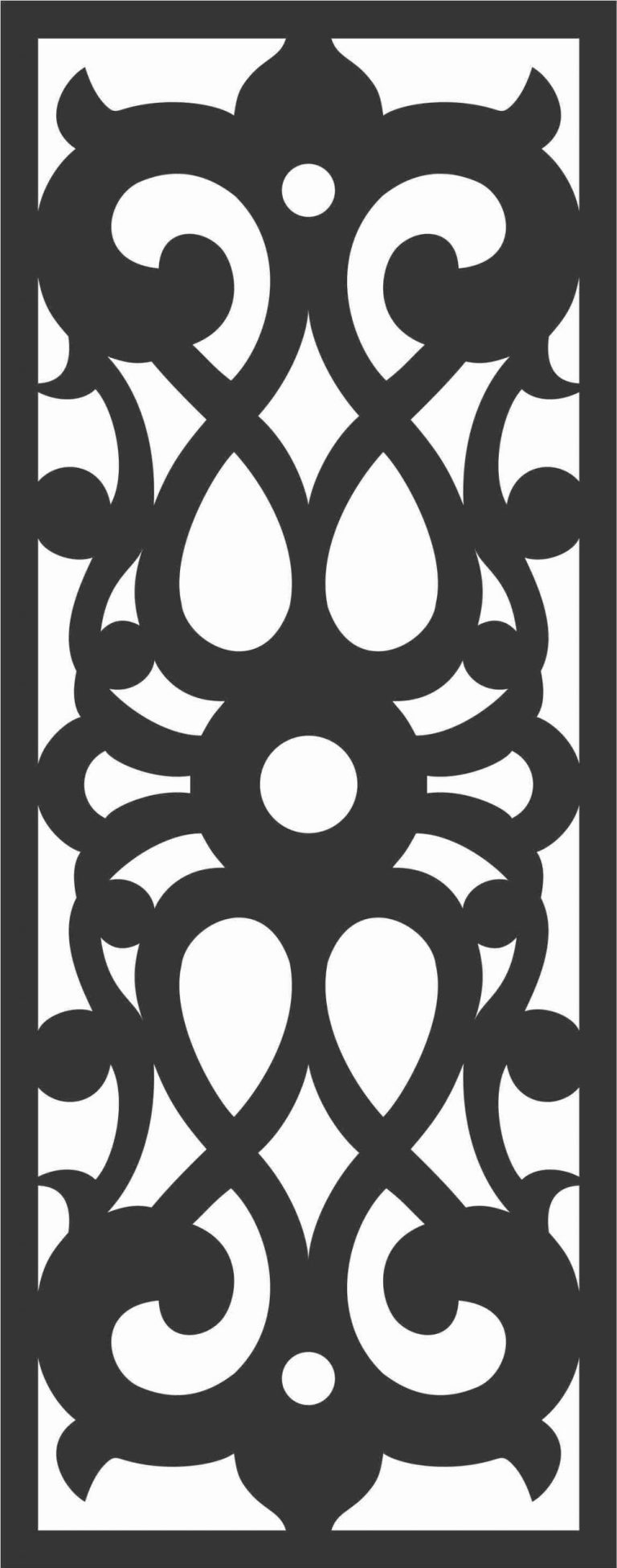 Floral Screen Patterns Design 44 Free DXF File