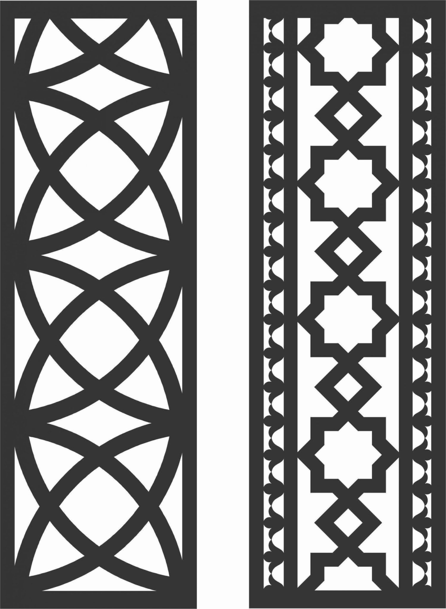 Floral Screen Patterns Design 45 Free DXF File