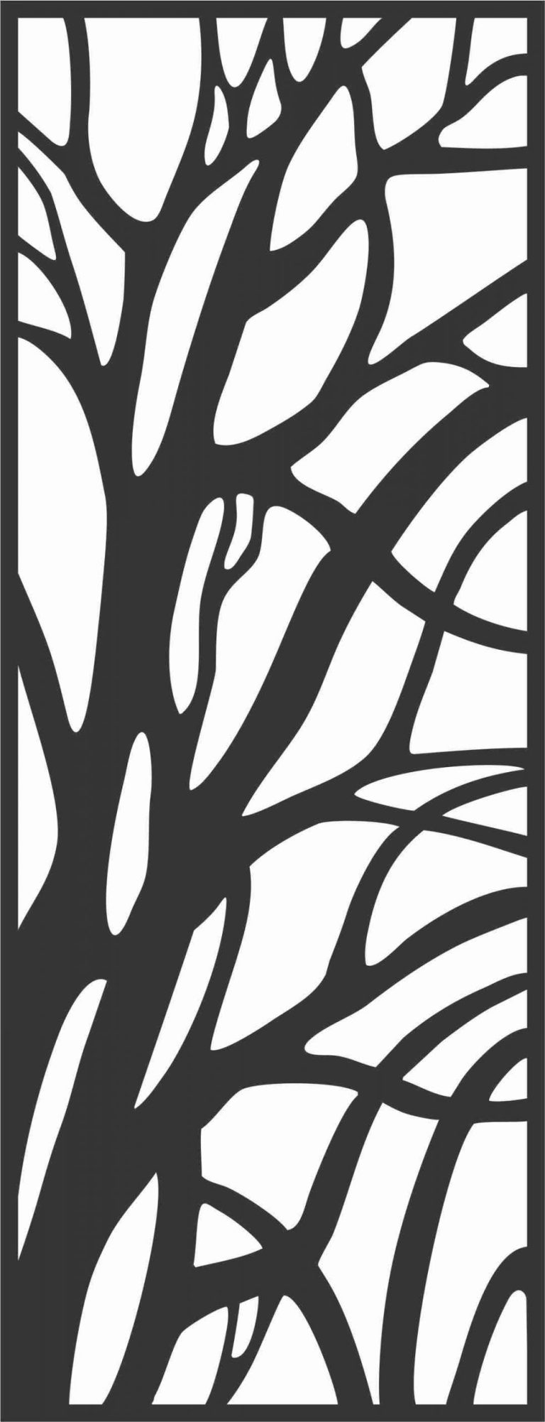 Floral Screen Patterns Design 47 Free DXF File