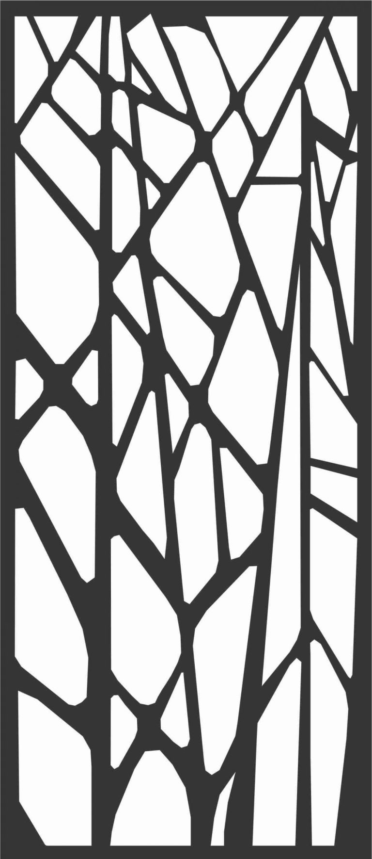 Floral Screen Patterns Design 49 Free DXF File