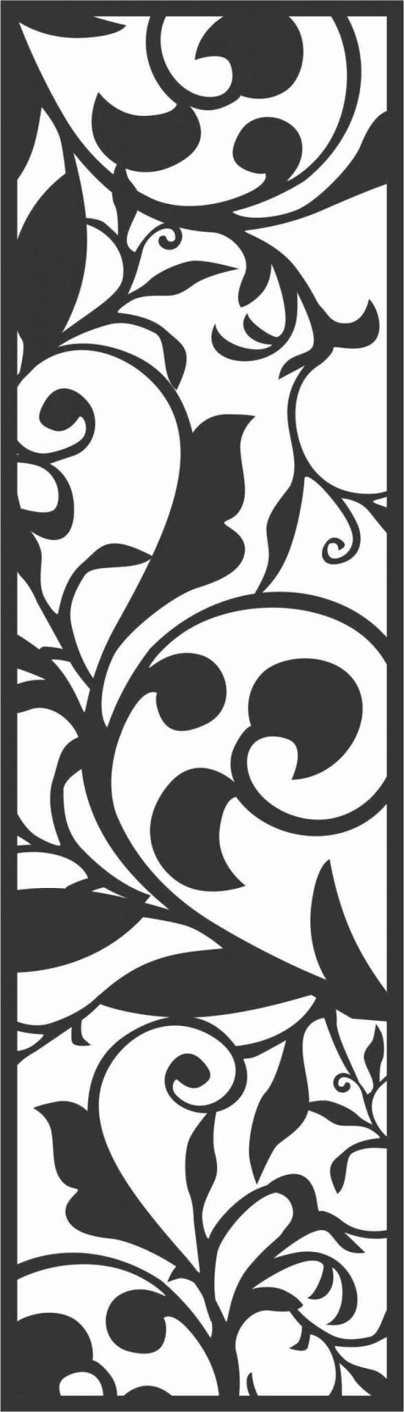 Floral Screen Patterns Design 50 Free DXF File