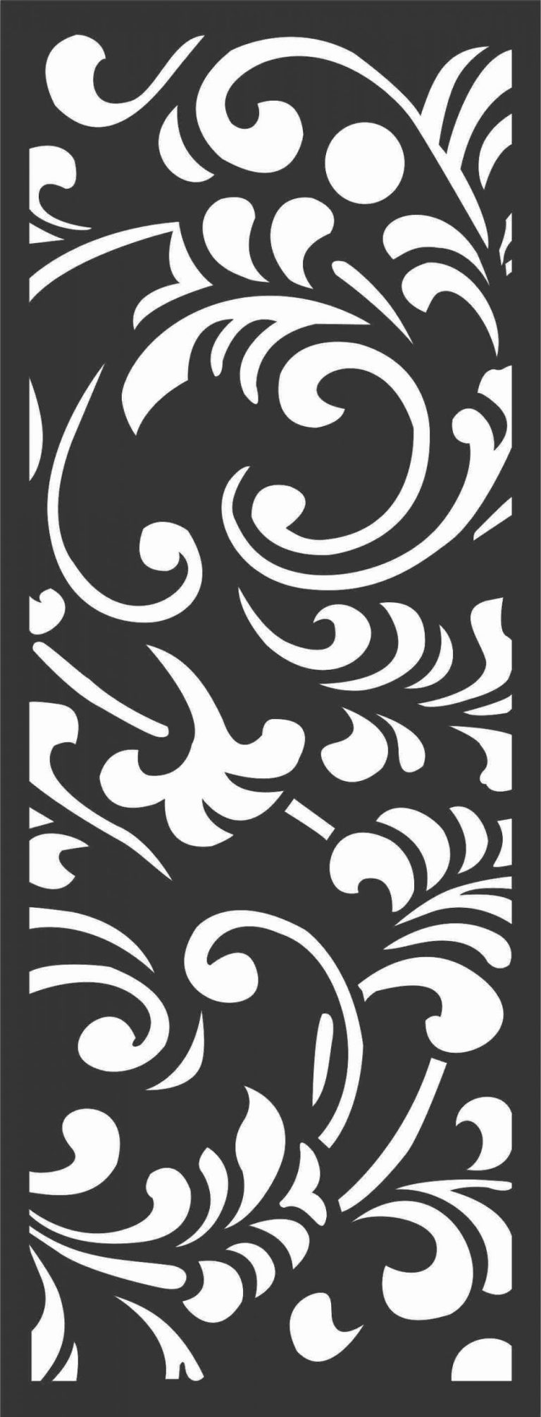 Floral Screen Patterns Design 53 Free DXF File