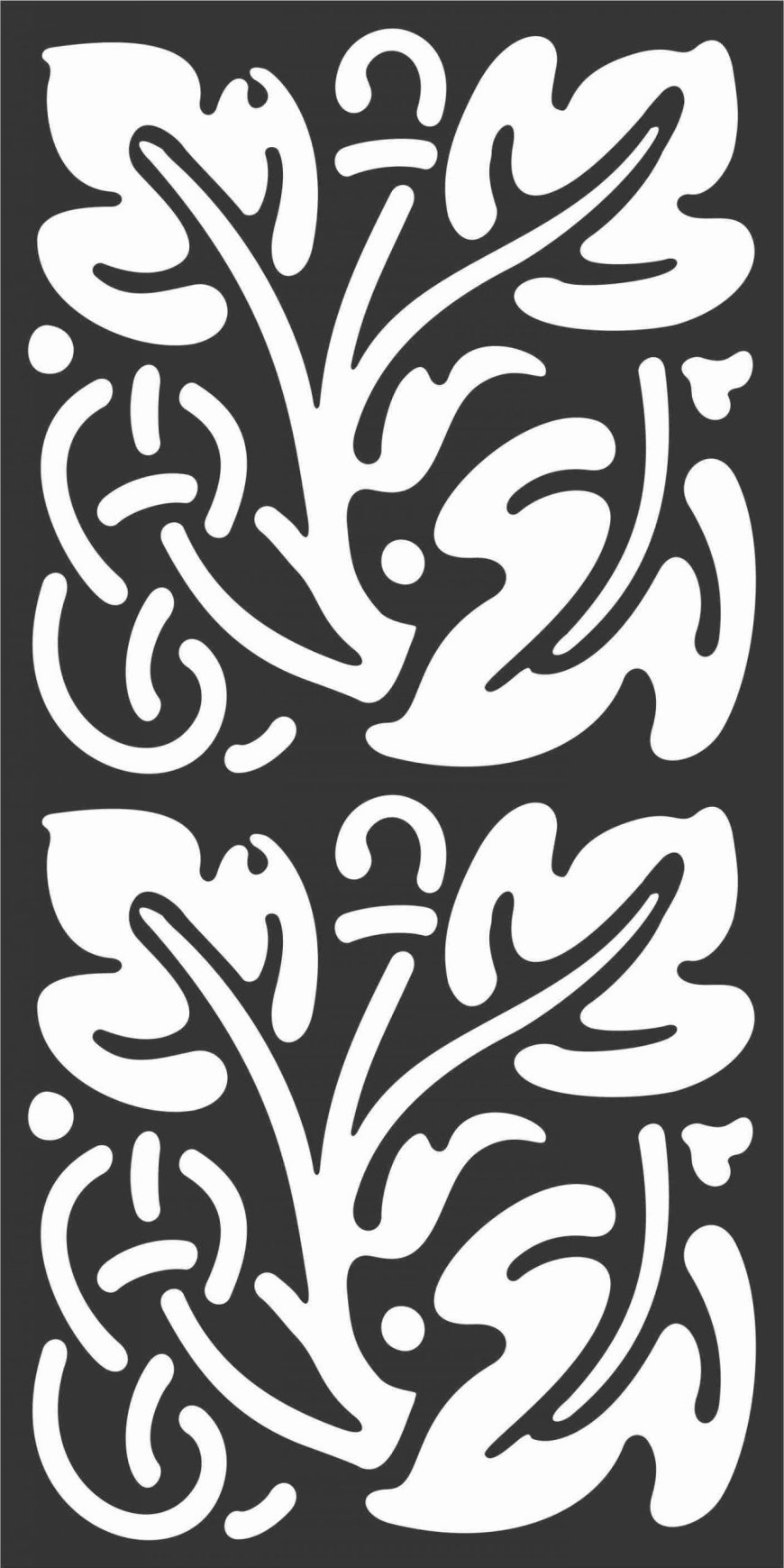 Floral Screen Patterns Design 54 Free DXF File