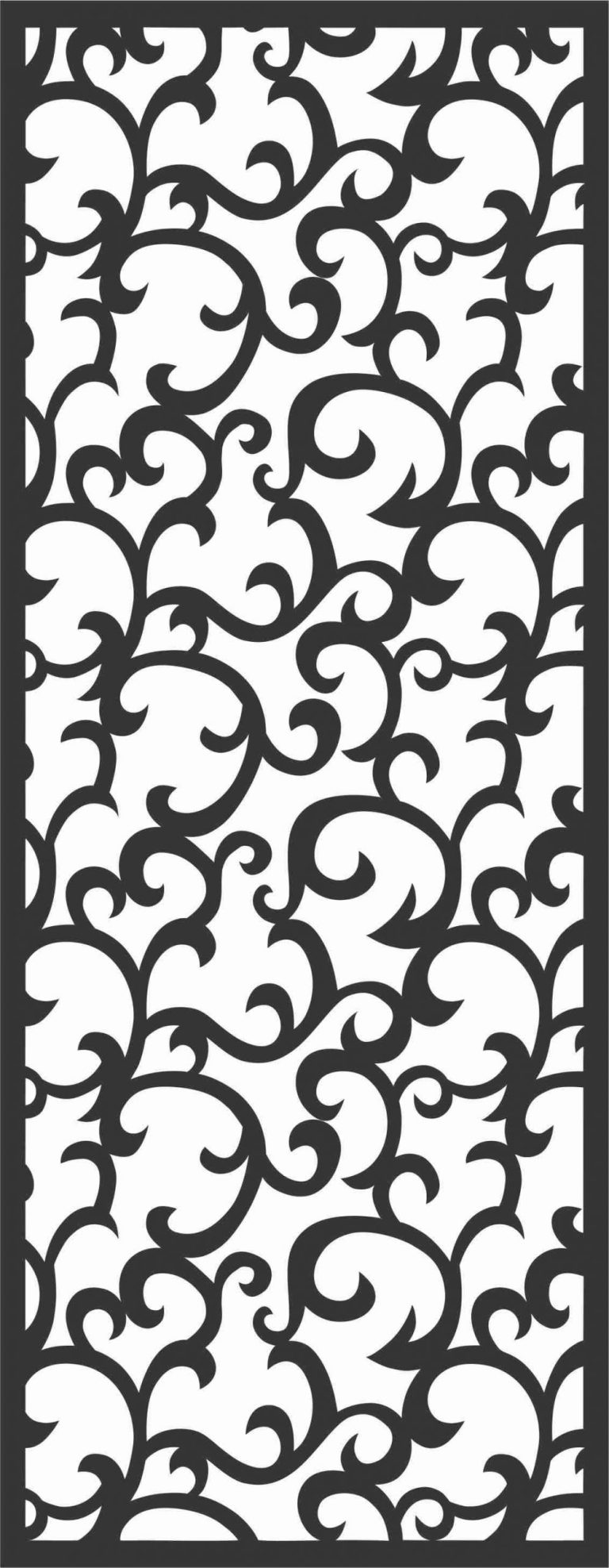 Floral Screen Patterns Design 57 Free DXF File