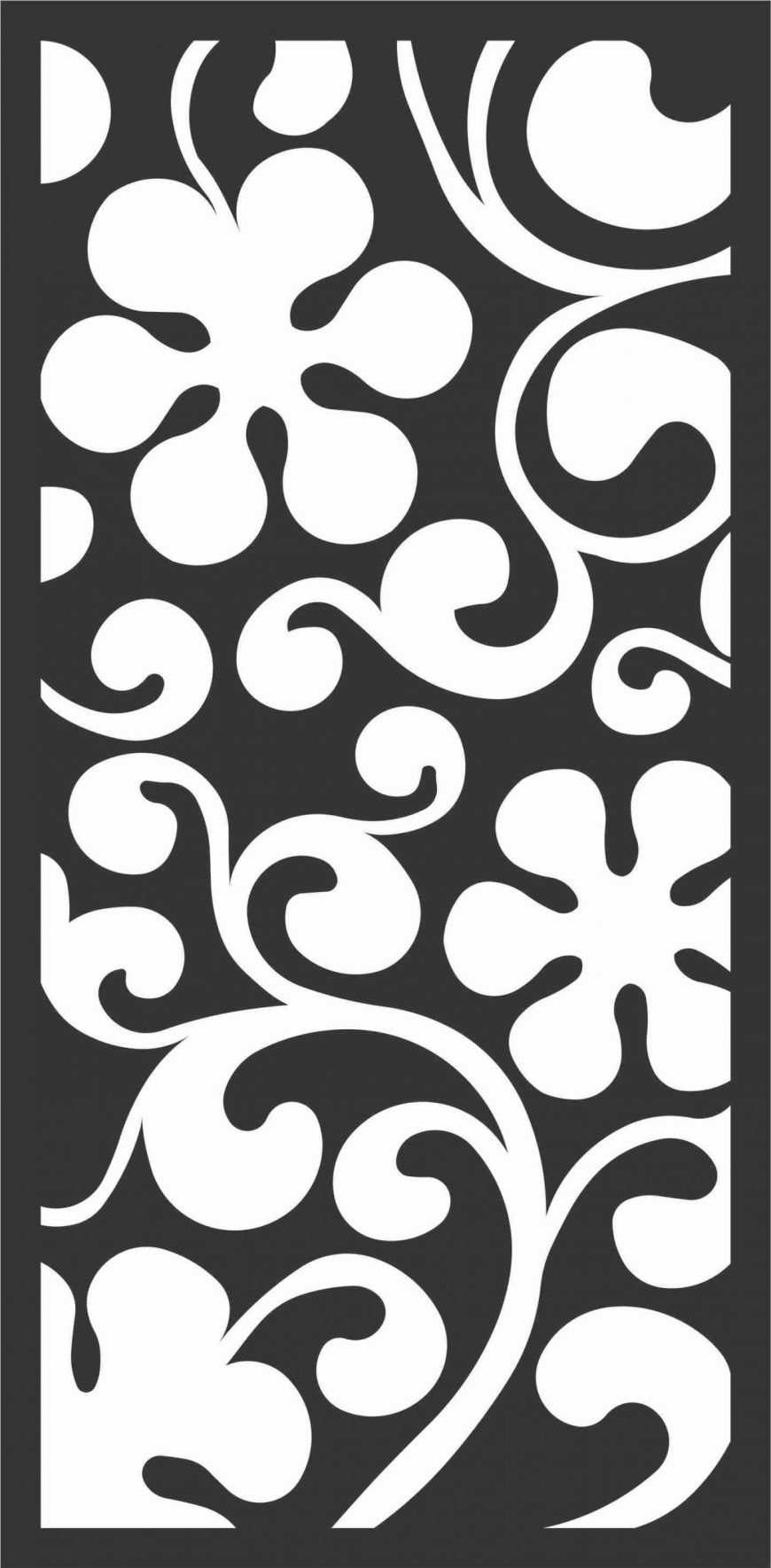 Floral Screen Patterns Design 58 Free DXF File