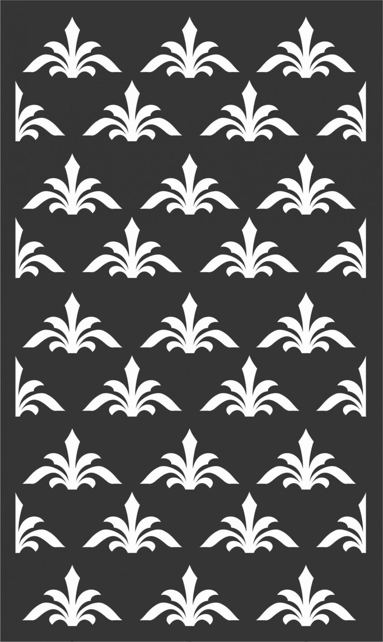 Floral Screen Patterns Design 66 Free DXF File