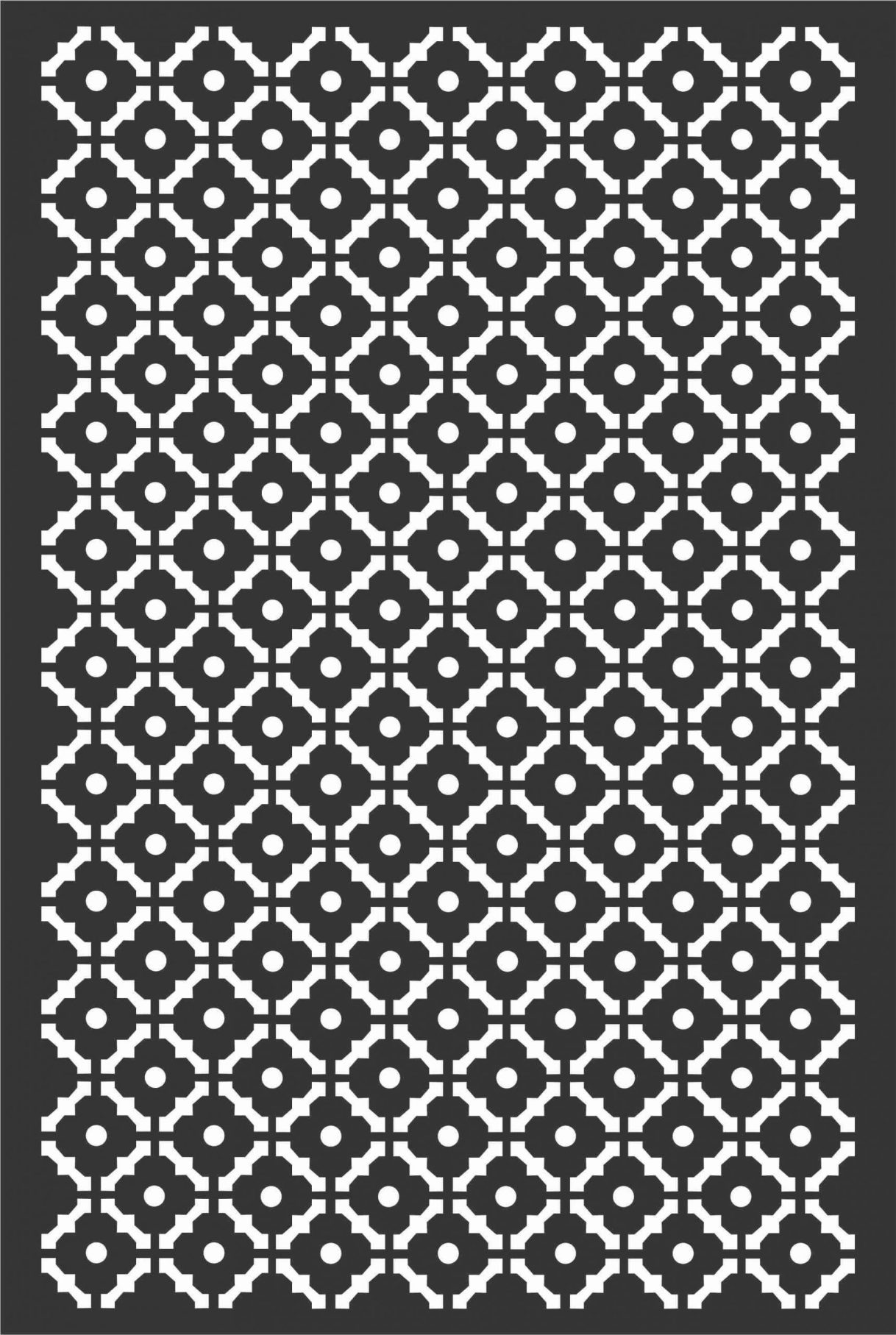 Floral Screen Patterns Design 69 Free DXF File