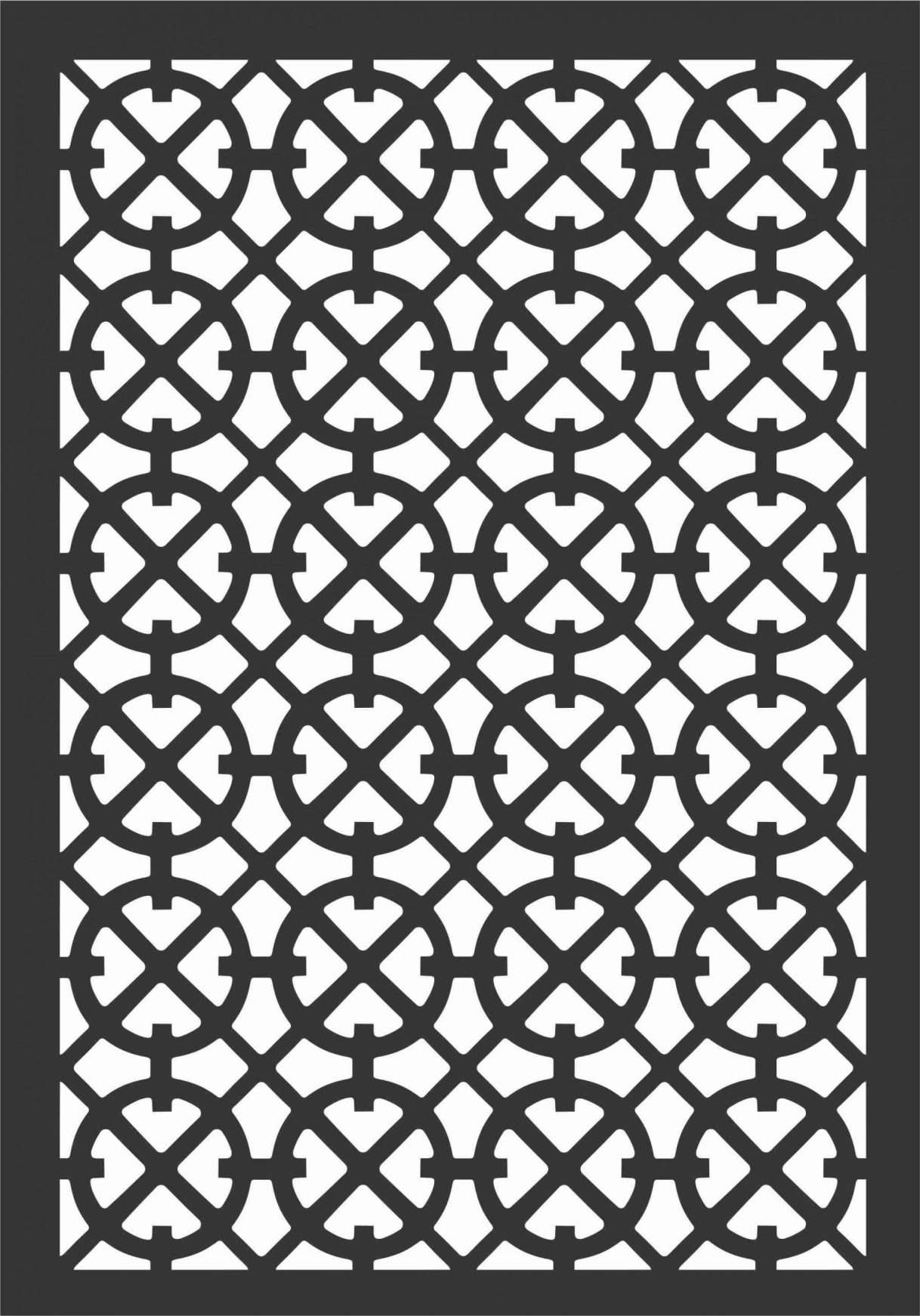 Floral Screen Patterns Design 79 Free DXF File