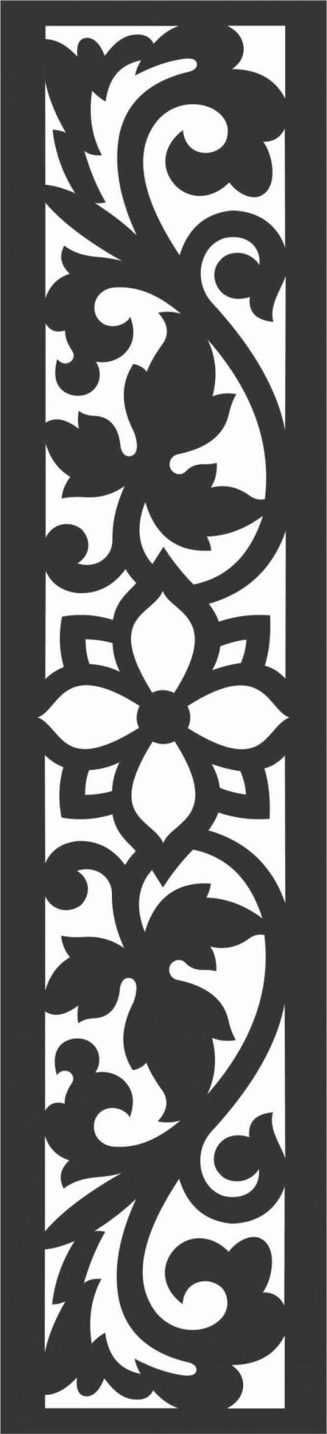 Floral Screen Patterns Design 81 Free DXF File