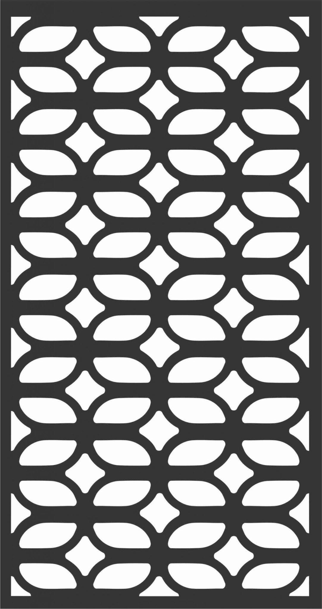 Floral Screen Patterns Design 82 Free DXF File
