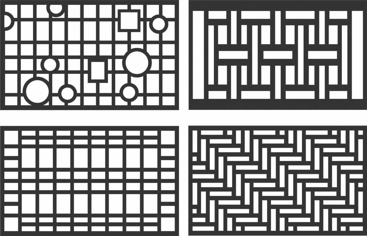 Floral Screen Patterns Design 86 Free DXF File
