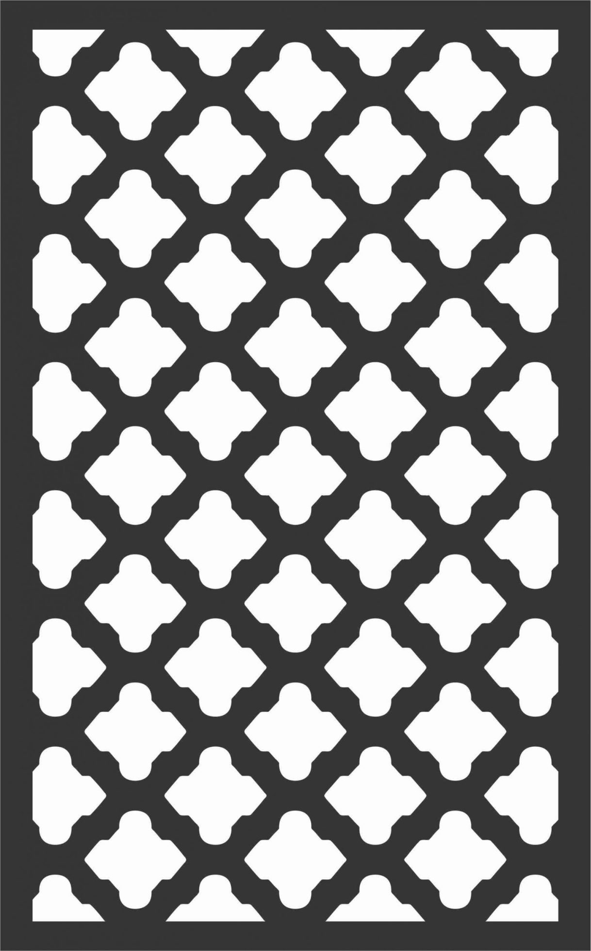 Floral Screen Patterns Design 89 Free DXF File