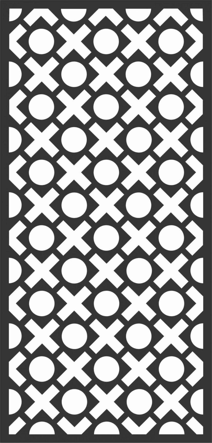 Floral Screen Patterns Design 93 Free DXF File