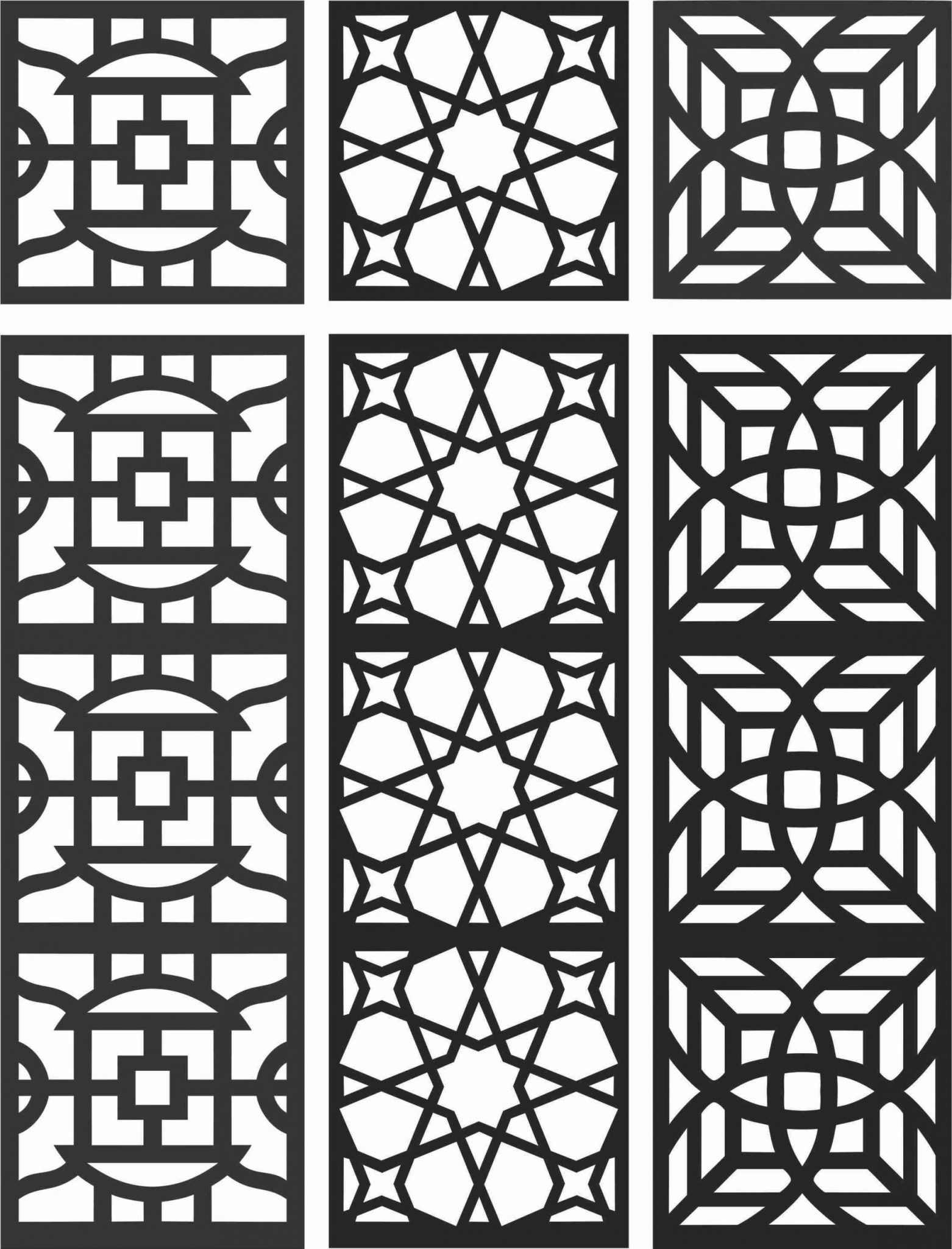 Floral Screen Patterns Design 100 Free DXF File