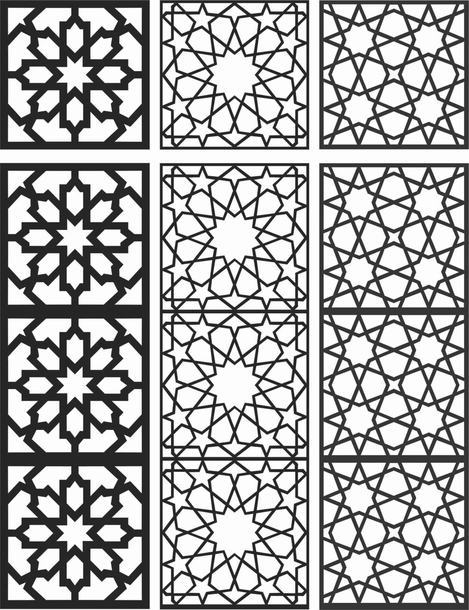 Floral Screen Patterns Design 103 Free DXF File