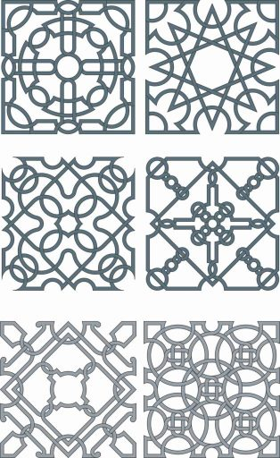 Floral Screen Patterns Design 131 Free DXF File