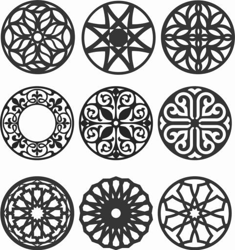 Floral Screen Patterns Design 136 Free DXF File