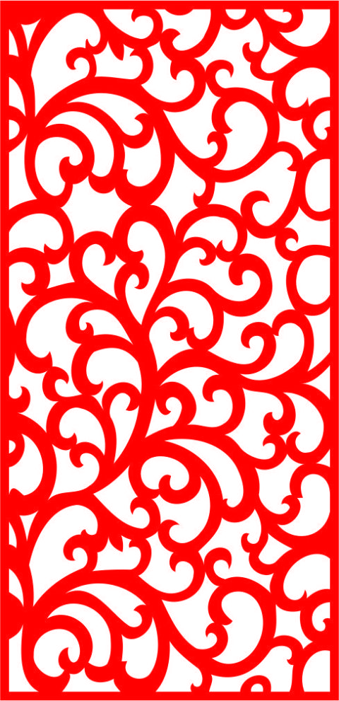 Floral Screen Patterns Design 148 Free DXF File