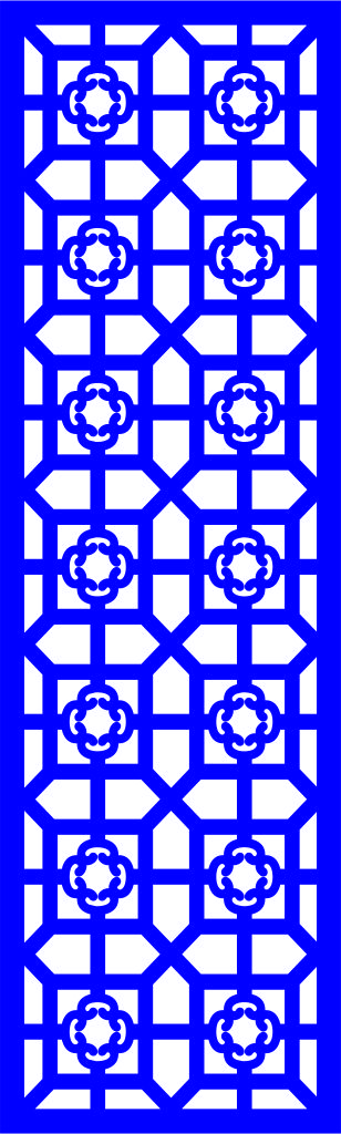 Floral Screen Patterns Design 153 Free DXF File