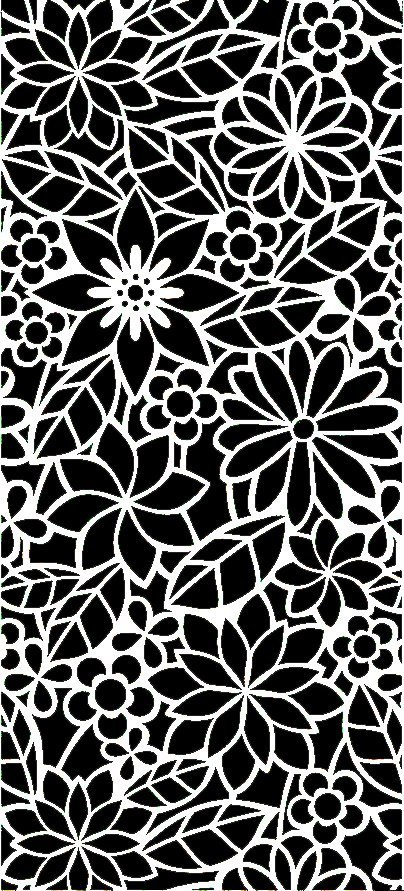 Floral Screen Patterns Design 156 Free DXF File