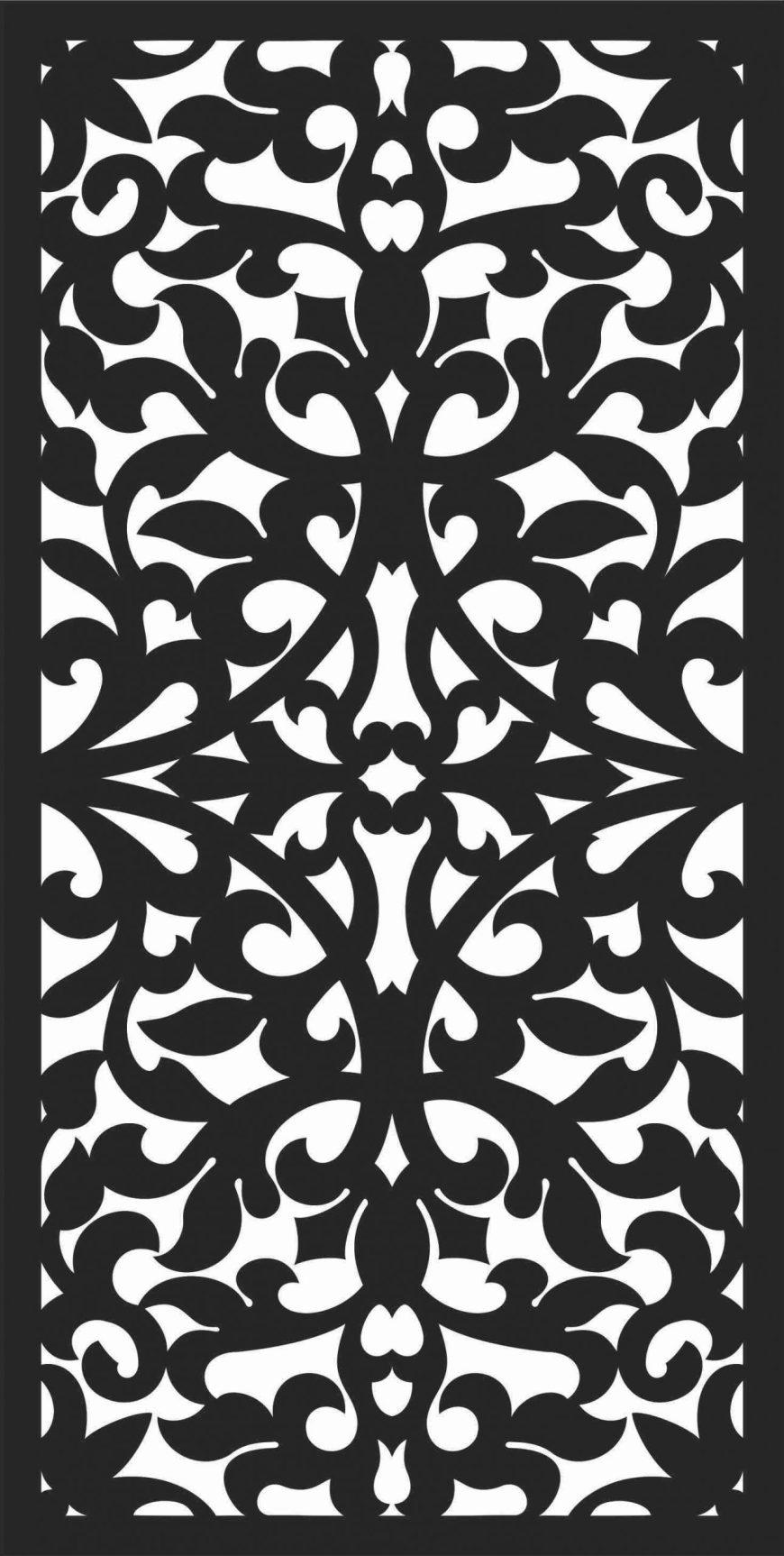 Screen Panel Patterns Seamless 1 Free DXF File
