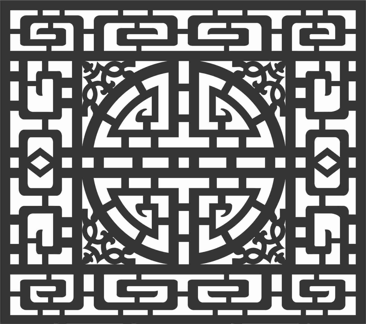 Screen Panel Patterns Seamless 7 Free DXF File