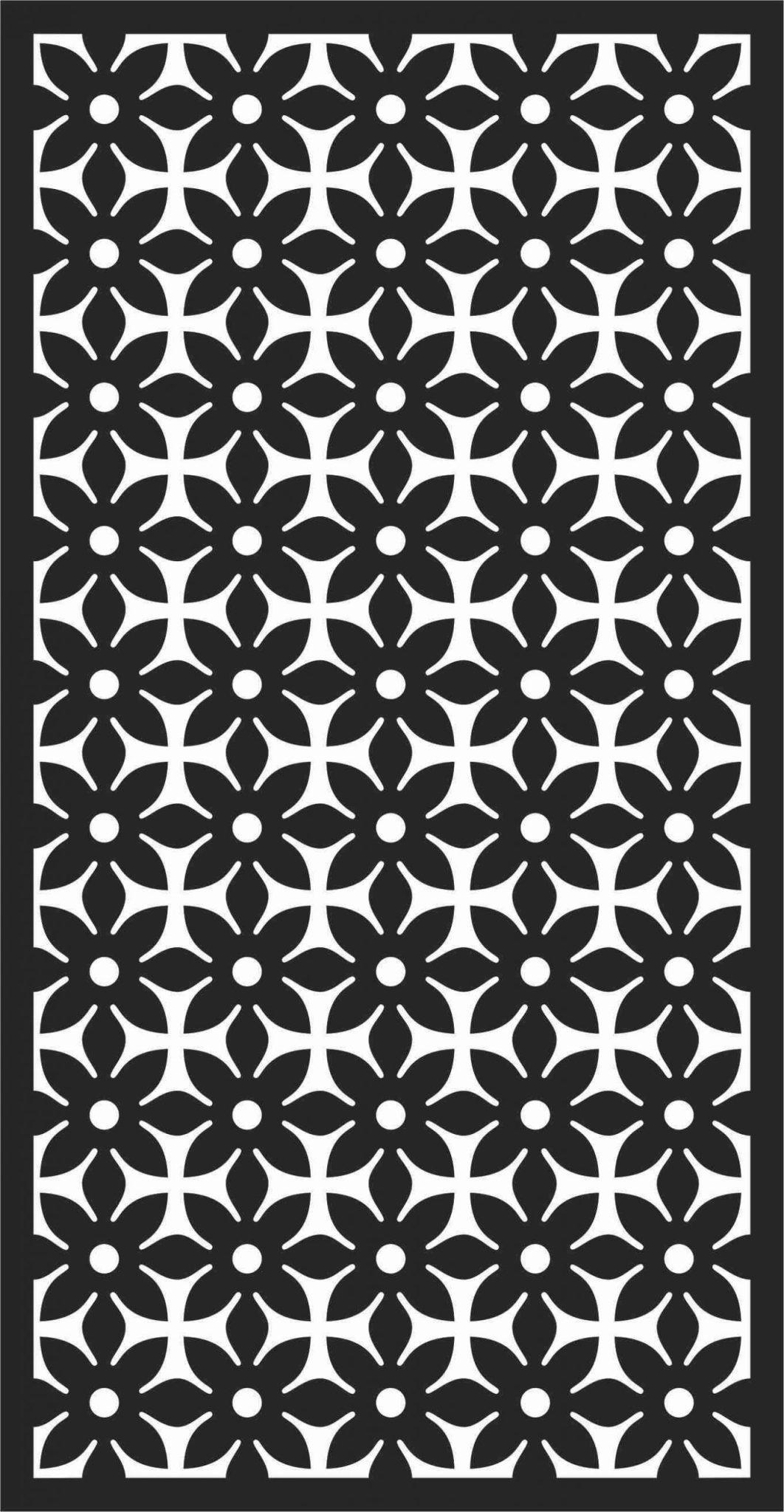 Screen Panel Patterns Seamless 13 Free DXF File