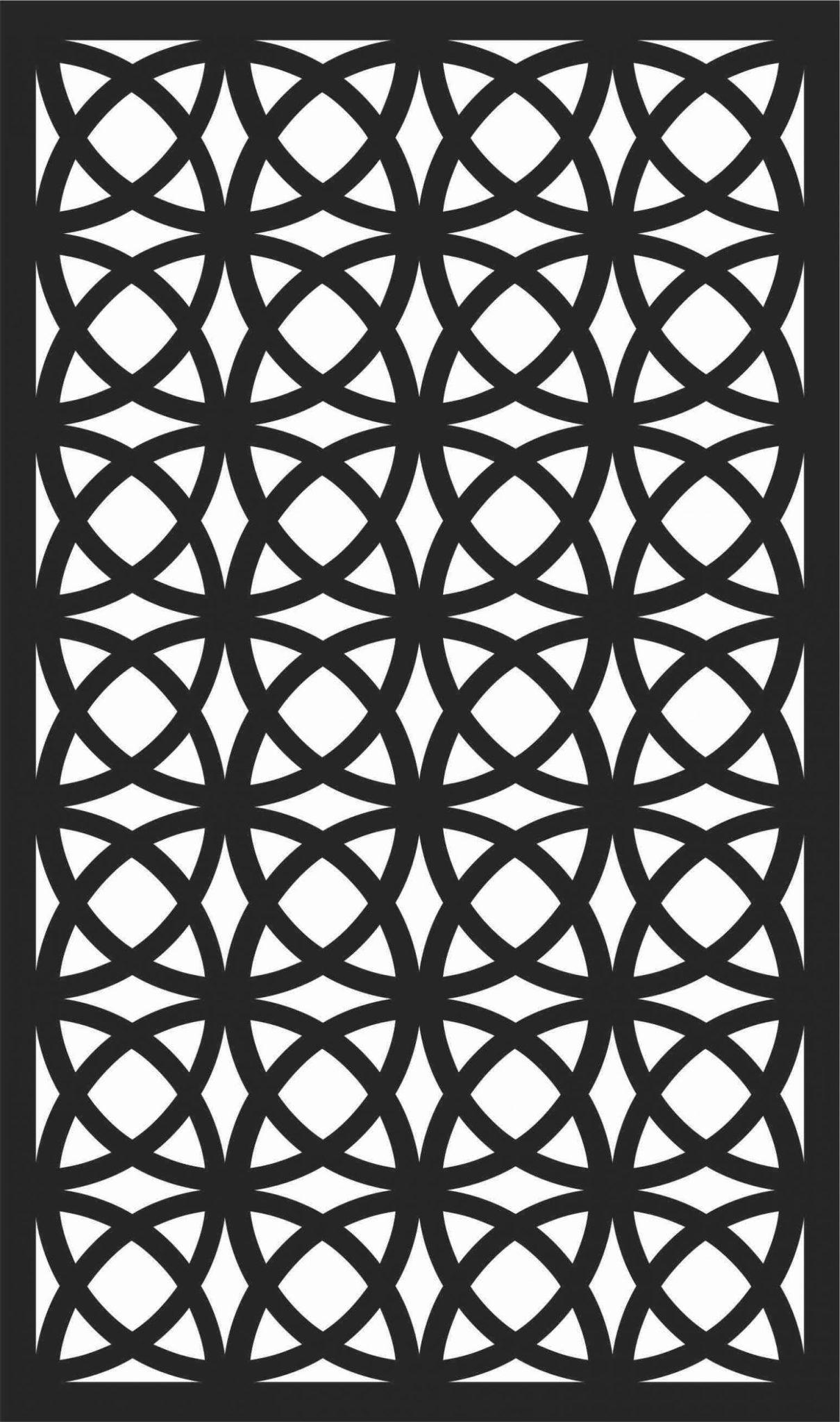 Screen Panel Patterns Seamless 14 Free DXF File
