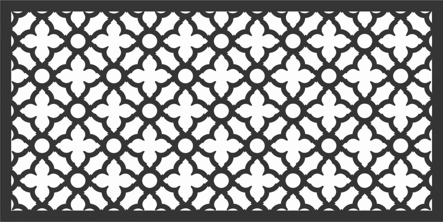 Screen Panel Patterns Seamless 18 Free DXF File