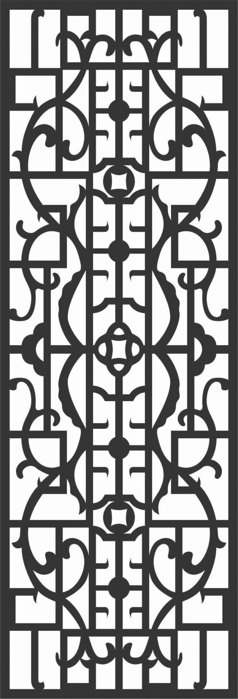 Screen Panel Patterns Seamless 20 Free DXF File