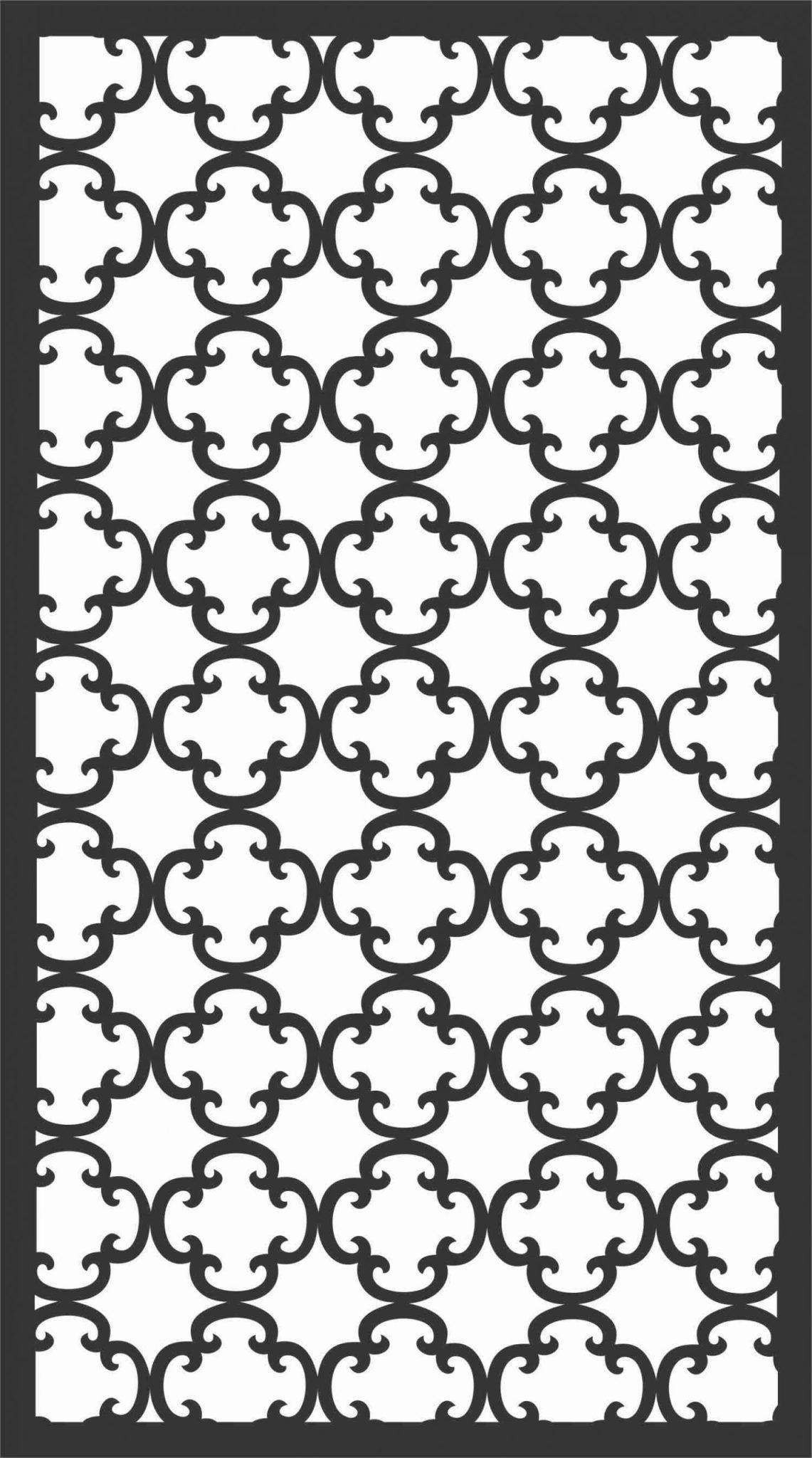 Screen Panel Patterns Seamless 22 Free DXF File