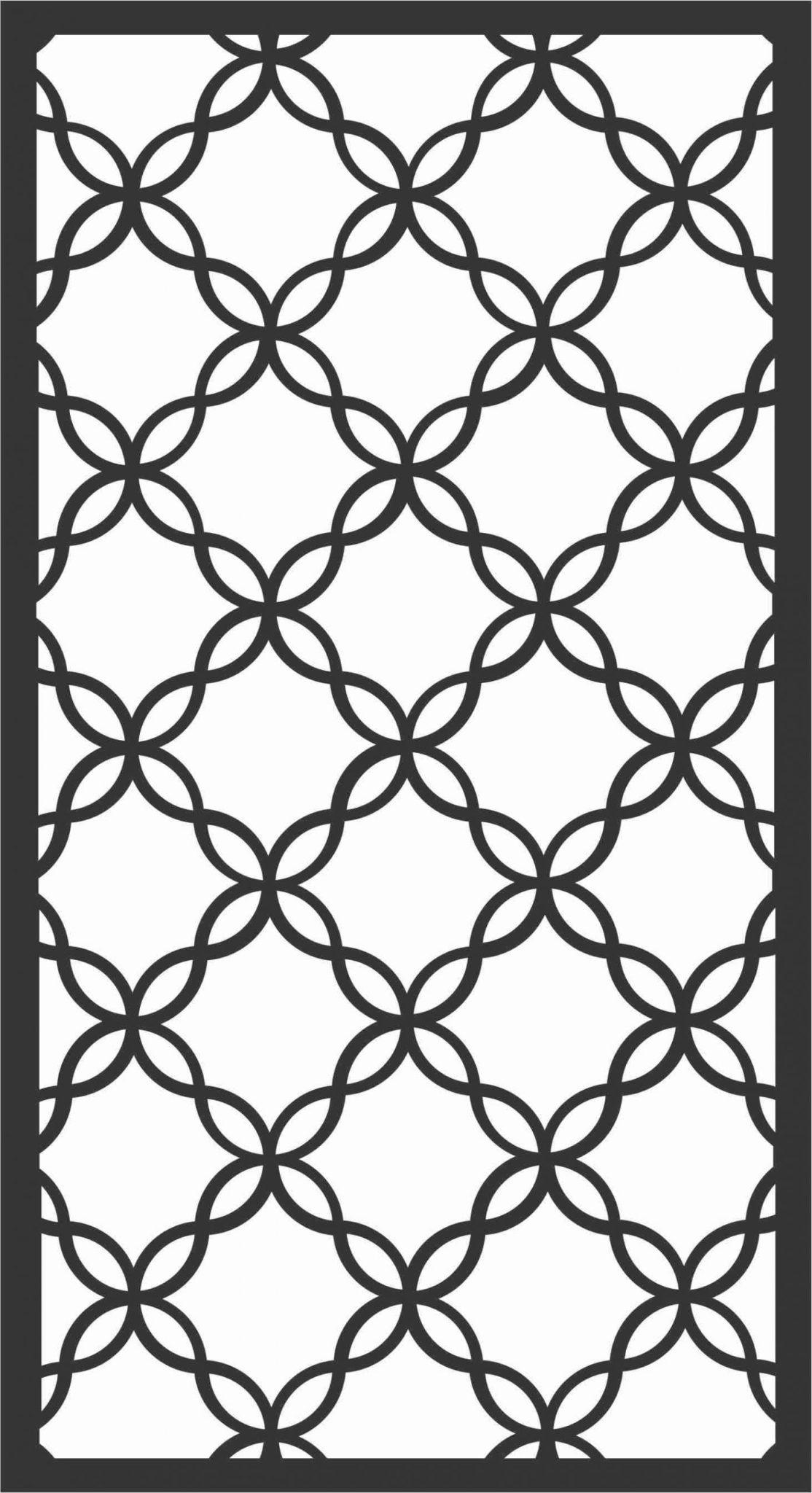 Screen Panel Patterns Seamless 24 Free DXF File