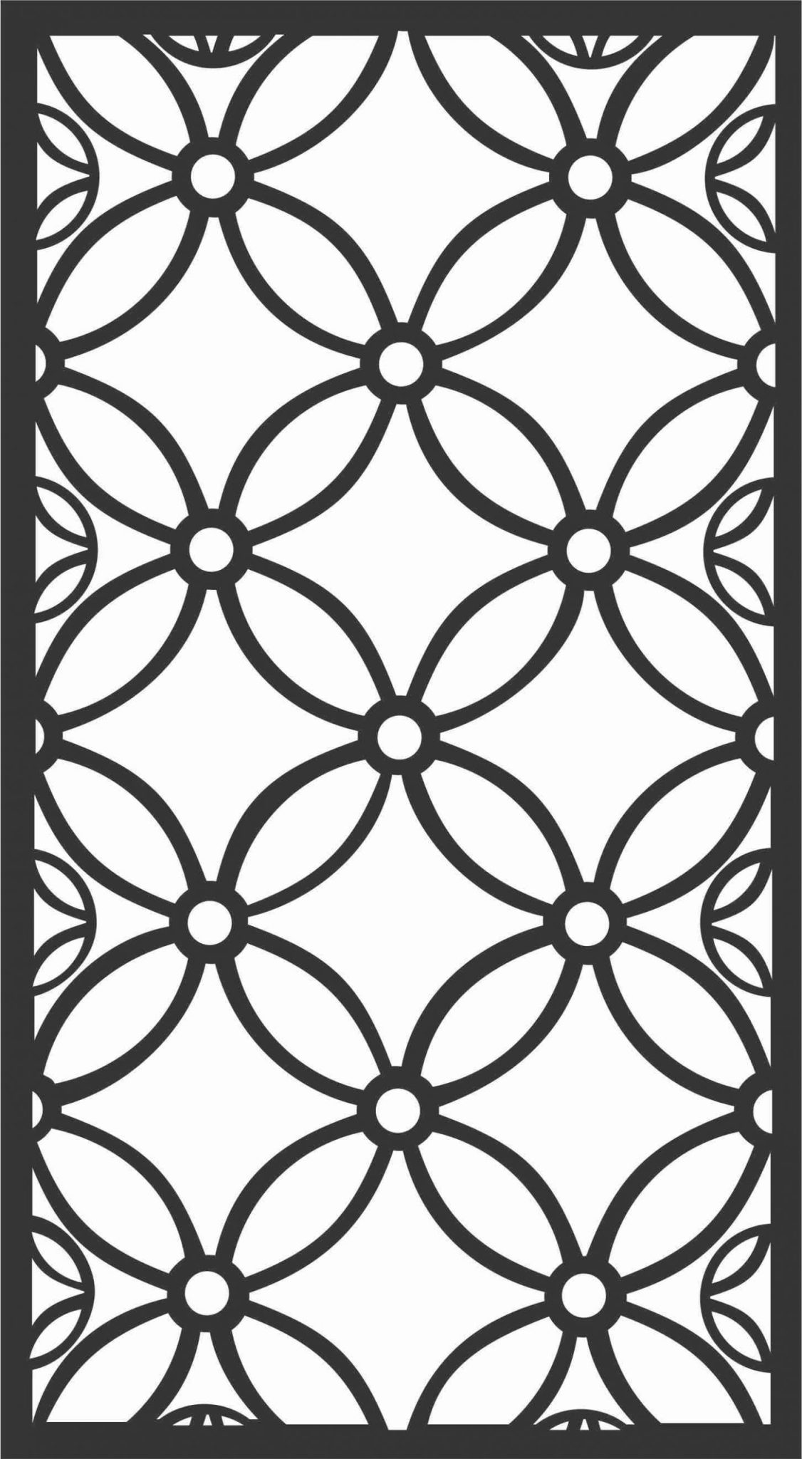 Screen Panel Patterns Seamless 25 Free DXF File
